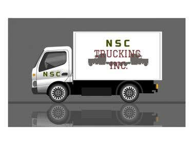 Logo for a trucking company