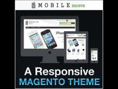 Installed Magento 1.8 Responsive Theme