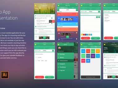 iOS To-Do App Screen Mockup Design