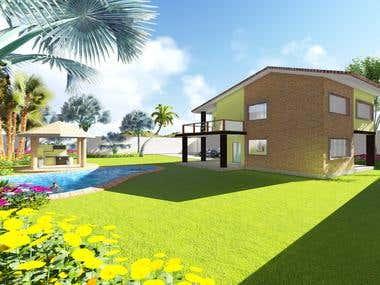 Diseño de casa campestre para cliente particular