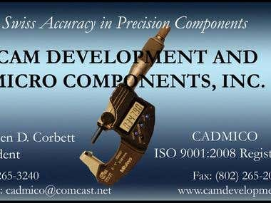 Cam Development Business Card