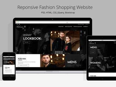 Responsive Fashion Website | PSD & HTML