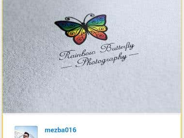 Rainbow Butterfly Photography | Logo Contest