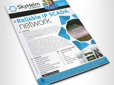 Skyhelm Brochure Design