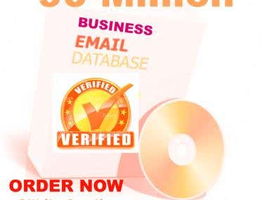 Email database of 90 Million verified business email address