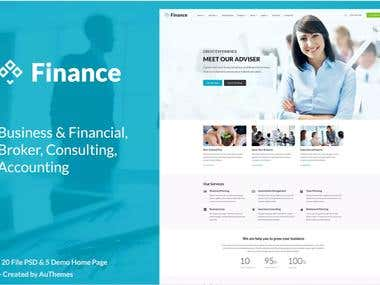 Business and Finance Web Site Template using Angular JS