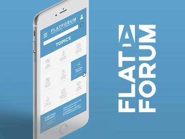 FlatForum – App for Designers Community Concept