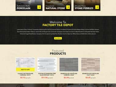 Factory Tile Depot Website Redesign