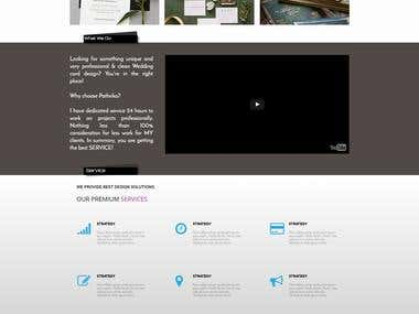 Single Page Parallax Scrolling Website Sample