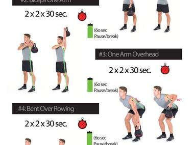 Workout Images for RD Fitness - Graphic Designing