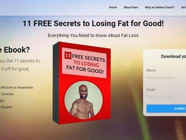 RD Fitness Ebook Landing Page - Core PHP