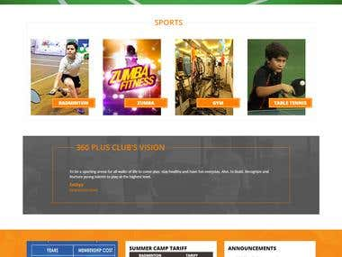 Indoor Sports & Fitness hub (Website)
