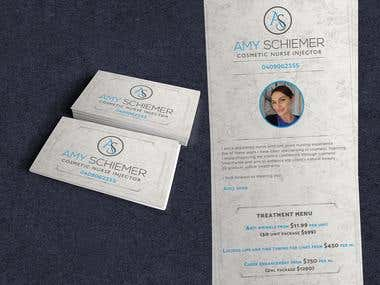 Menu and Business Card - Beauty