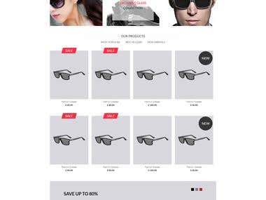 HTML, CSS Template for a online store