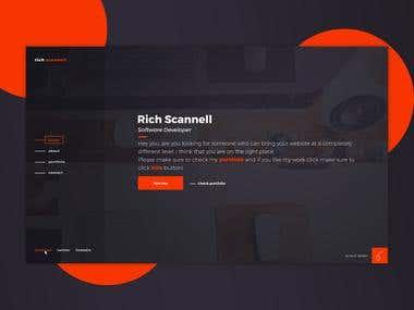 Personal portfolio Rich Scannell