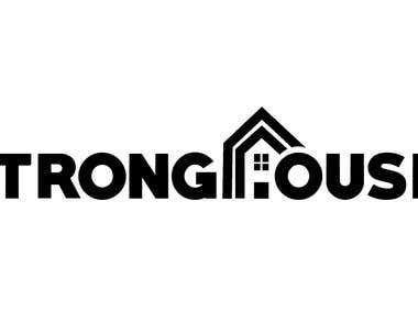 Strong House Logo Design
