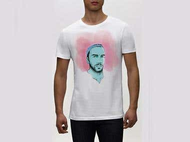 T-shirt Design/Your own portrait illustration