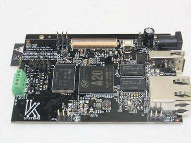 Custom A20 Tablet board Innolux with WiFi