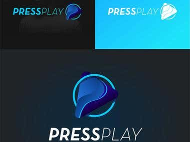 Pressplay Logo design