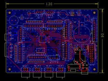 PIC18F66K22 based board