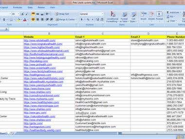 Web Research and data Entry