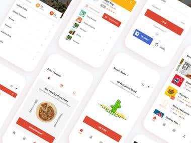 Foodviser app template