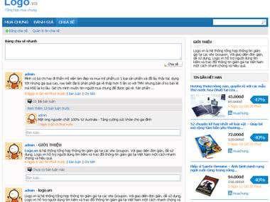 Website for deal aggregation