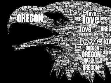 Love Oregon T-Shirt Print