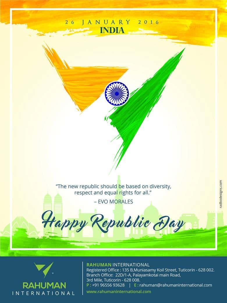 Rahuman International Republic Day Greetings Freelancer