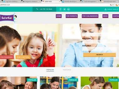 Childcare Website in Magneto Framework