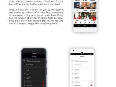 News Application (Android & iOS)