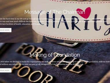 Charity Foundation Website in Wordpress - 2