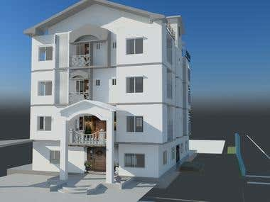 3D Exterior Work with Autocad,3Dsmax with Vray