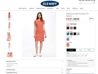 Eommerce plateform | https://secure-oldnavy.gap.com