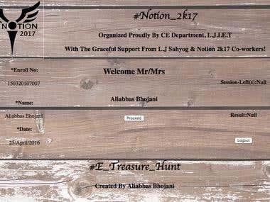 E-treasure hunt Quiz