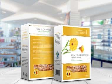 Organic Tea Packaging Design - Herbal Therapy