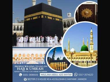Haz o Umrah flyer & business card