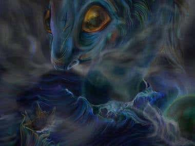 Sea Monster Digital Painting
