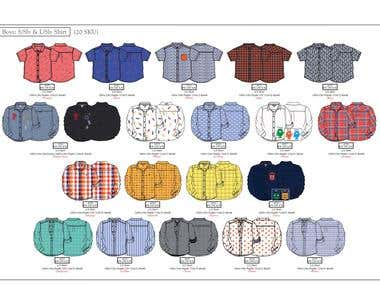 Shirts technical sheet & Designs