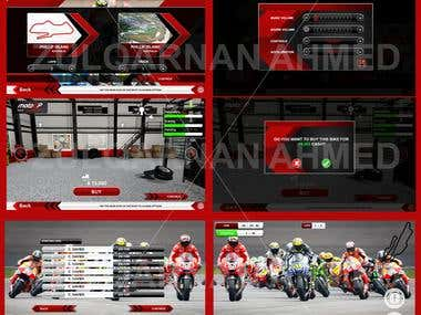 Bike Racing game GUI