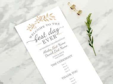 full wedding set stationery