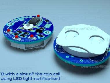 Small PCB with a size of the coin cell