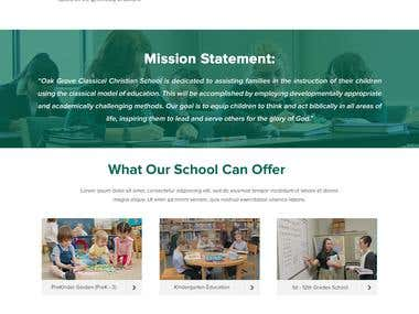 Oak Grove Christian School. Home Page Design Contest