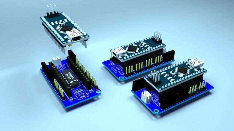 Arduino Nano v3 0 shield for small DC motors | Freelancer