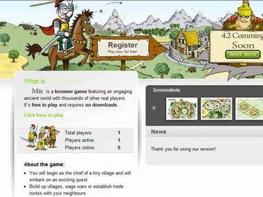 MMORPG Multiplayer Strategy game