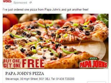 Papa Johns Advertisement