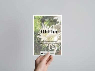 Flyer para OhFlor