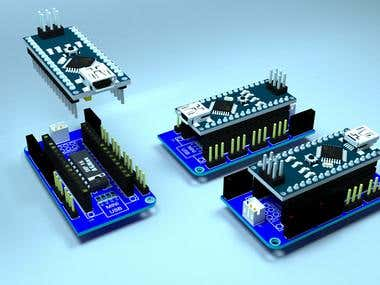 Arduino Nano v3.0 shield for small DC motors