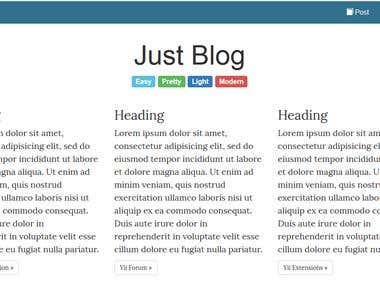 Just Blog (Simple platform for blogging based in Yii2)