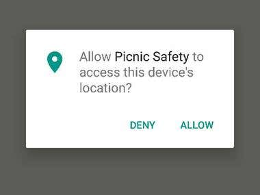 Android Application - Picnic Safety